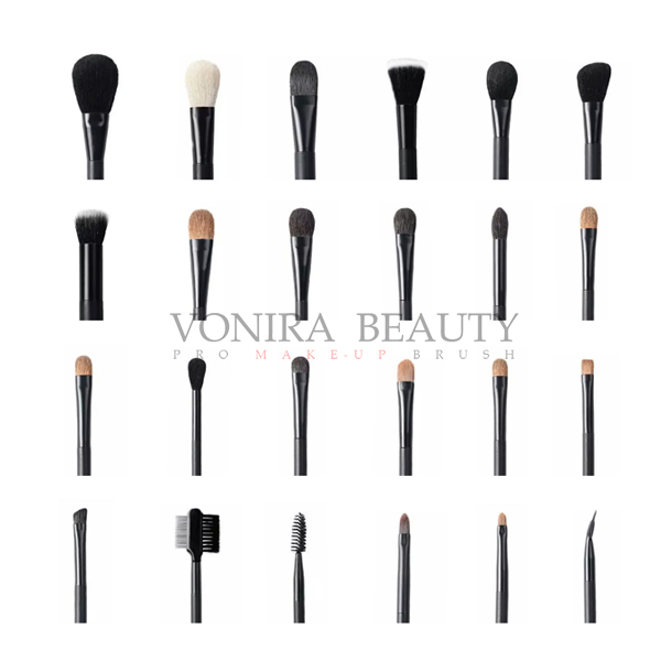 Custom Private Label Full Line High End Luxury Makeup Brushes As Customer Demands