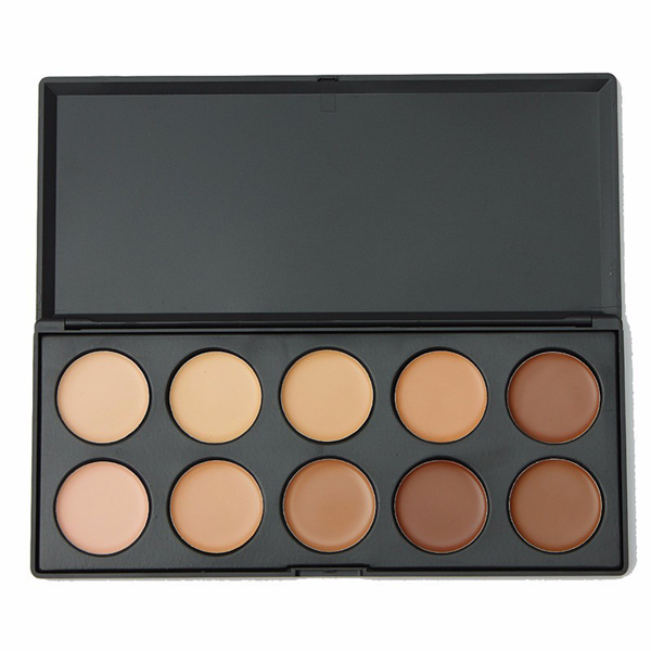 10 Colors Contour Face Eye Makeup Concealer Palette Neutral Kit title=