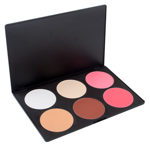 Facial Beauty New 6 Color Makeup Cosmetic Blush Blusher Contour Palette