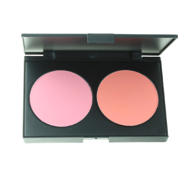 Women Charm 2 Color Makeup Cosmetic Blush Blusher Powder Blush Palette Professional Makeup Face Blush