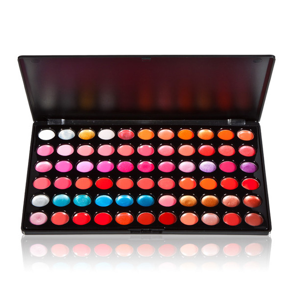 High Quality Beauty 66 Color Gorgeous Lip Gloss Lipsticks Makeup Palette Professional Cosmetic Palette