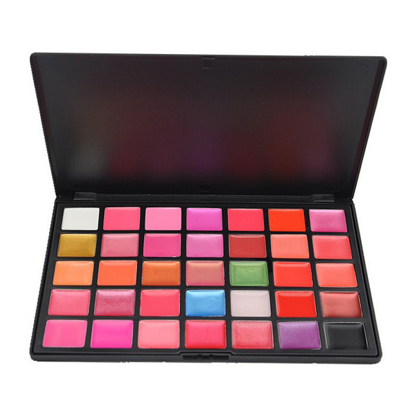 Professional Cosmetic 35 Color Gorgeous Lipsticks Lip Gloss Makeup Palette