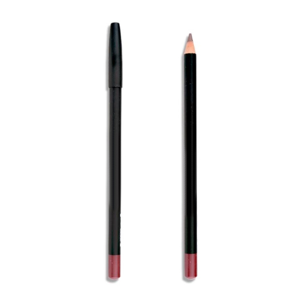 Wooden Cosmetic Pencil for Eyeliner with Black Plastic Cap