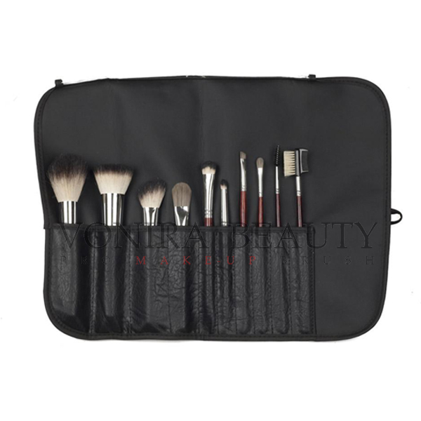 Classic Italian Badger Hair Color Makeup Brush Set With High Quality Brush Case