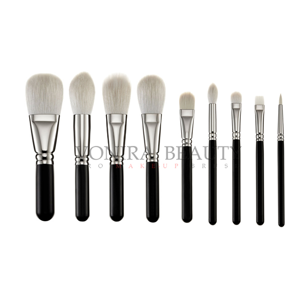 Exclusive Luxury Softest Makeup Brushes Private Label Silver Copper Ferrule